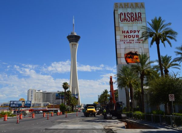 Construction along Las Vegas Boulevard