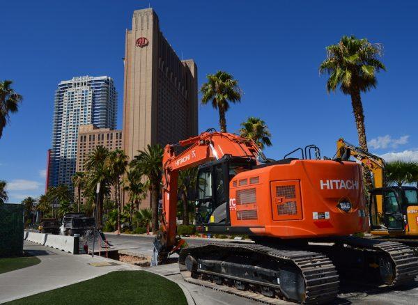 Construction on Las Vegas Boulevard