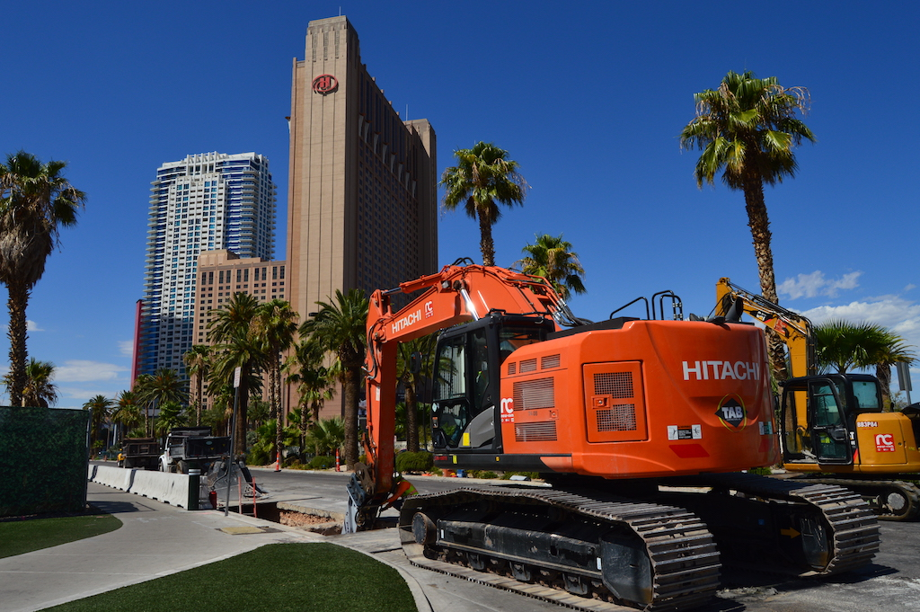 Construction on Las Vegas Boulevard